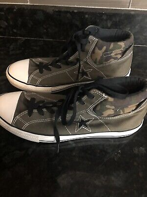 NEW CONVERSE ONE Star Olive Green Leather UK Size 13