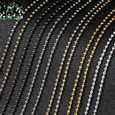 5meters 1.5mm/2.4mm Gold/Silver/Bronze/Platinum Iron Metal Ball Chains Jewellery