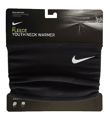 Nike Neck Warmer Fleece Scarf Youth Boys Kids Black One Size Brand New Genuine