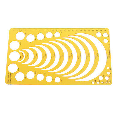 K Resin Template Ruler Stencil Measuring Tool Drawing Many Size Round CirclFA
