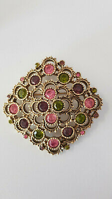 "Set Vintage Sarah Coventry ""Austrian-Lites"" Rhinestone Brooch and Braclet 1973"