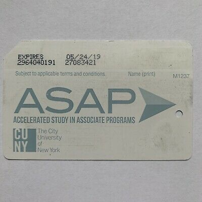 ASAP CUNY Metrocard - Expired in Good Condition *Collectible Item*