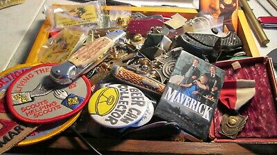 Junk Drawer Clean out, Five (5) pounds Tokens, Pins, Knives No Junk