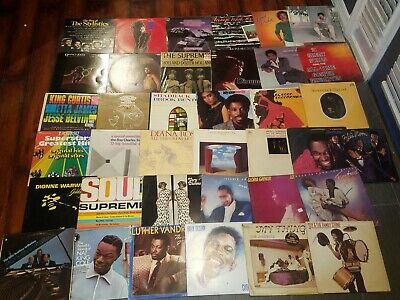 R&B Funk Soul - 37 Vinyl LP Record Lot - Gaye, Dionne, Diana Ross, Supremes VG+