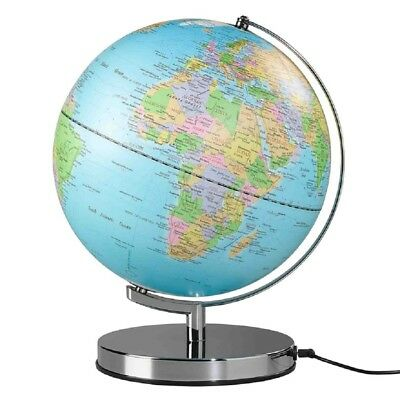 Wild and Wolf 10 inch Blue Classic Globe Light with UK Plug