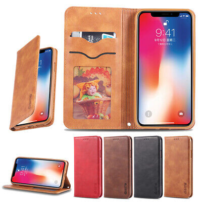 Retro Fashion Flip Card Shockproof Non-slip PU Leather Phone Case For iPhone Lot