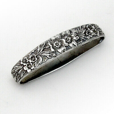 Stieff Rose Oval Napkin Ring Sterling Silver 1930