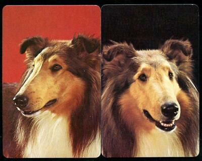Vintage Swap Cards Rough Collie Pair In New Condition
