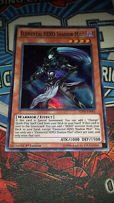 Elemental HERO Shadow Mist - SDHS-EN001 - Super Rare - 1st Edition M/NM Yugioh