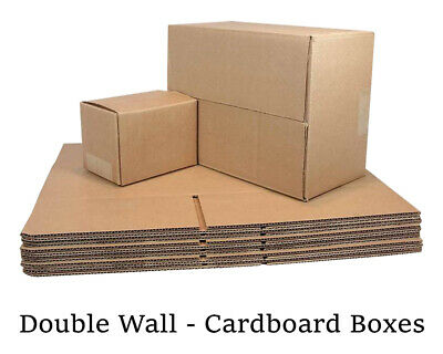 Double Wall Plain Brown Corrugated Cardboard Postal Mailing Boxes - All Sizes