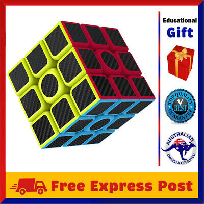 3x3x3 Fast Speed Super Puzzle Rubiks Rubix Magic Cube Smooth Educational Gift AU