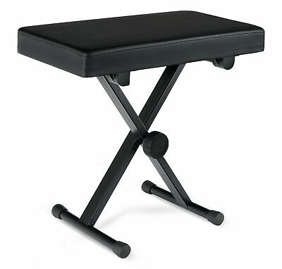 Keyboard Bench Digital Piano Stool Padded Chair Foldable Seat Height Adjustable