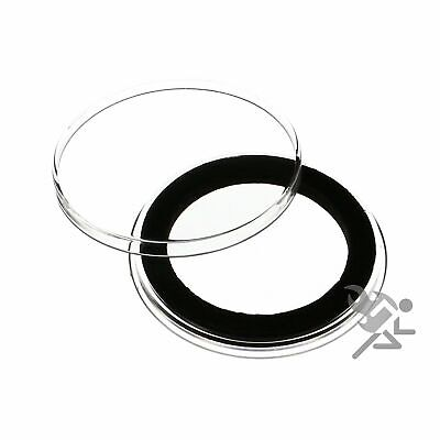 (25) Air-tite 36mm Black Ring Coin Holder Capsules for Canadian One Dollar and