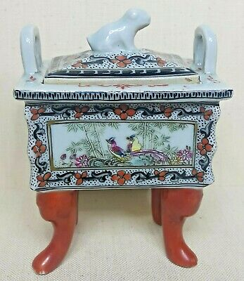 Antique Chinese porcelain censer style, 19th century.