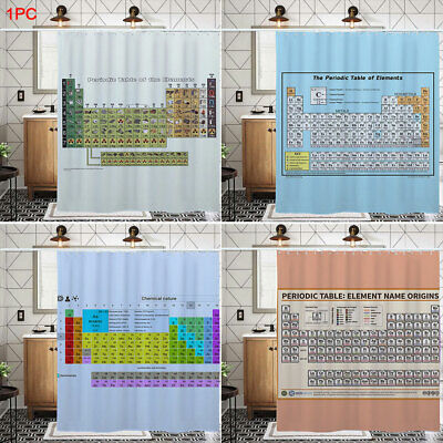 Bath Decor Periodic Table Of Elements Privacy Protection Shower Curtain Modern