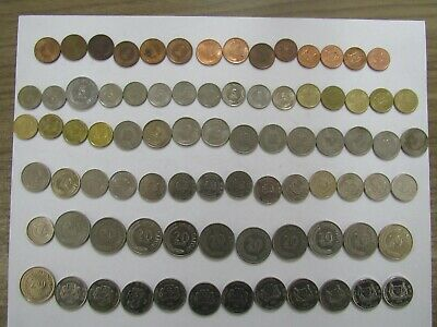 Lot of 82 Different Singapore Coins - 1967 to 2016 - Circulated
