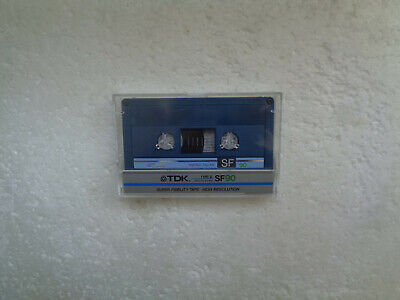 Vintage Audio Cassette TDK SF 90 From 1985 - Fantastic Condition !!