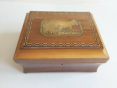 Antique Georgian early Tunbridge ware Sewing box Brighton Pavilion