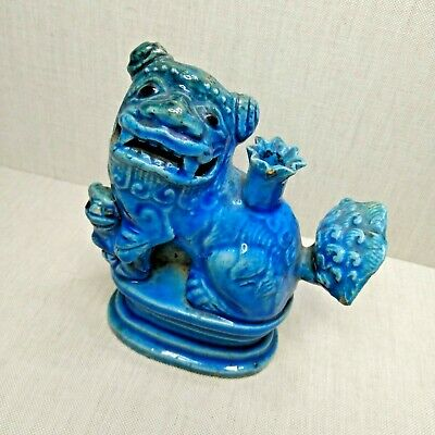 Antique Chinese porcelain turquoise glazed moon figure, 18th-19th century.
