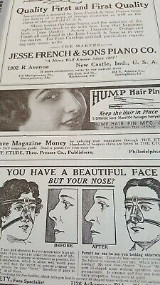 1919 Advertisement for NOSE-SHAPER, M. Trilety, Face Specialist Among Other Ads
