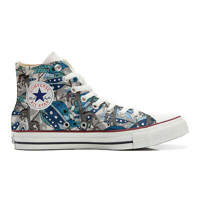 Scarpe Converse All Star Custom Abstract Drawing,Hand Made in Italy,cod.XA11_252