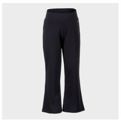 Girls stretch elasticated navy blue/ blue school trousers age 3-16 years