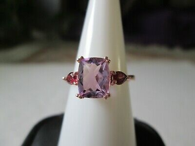 Rose De France Amethyst 14K RG over Sterling Silver Ring (Size 7) TGW 2.41 cts.