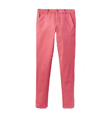 Joules Womens Hesford Chinos Trousers in Red Sky Size UK 18