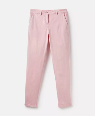 Joules Womens Hesford Chinos Trousers PALE PINK Size UK 12