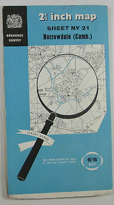 1963 old vintage OS Ordnance Survey 1:25000 First Series Map NY 21 Borrowdale