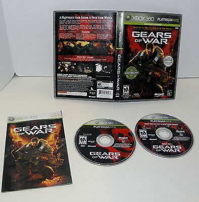 Gears of War  XBOX 360   Complete  2 disc