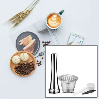 Stainless Steel Refillable Reusable Coffee Capsule Pod Durable