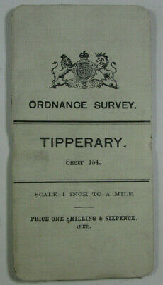 1904 Old OS Ordnance Survey Ireland One-Inch Second Edition Map 154 Tipperary