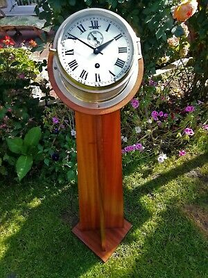 #035 1950s BRASS SMITHS ASTRAL SHIPS CLOCK LECTERN MOUNTED