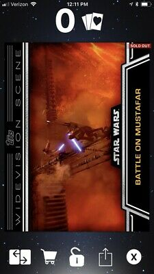 Star Wars Card Trader Battle On Mustafar Widevision S1 Award