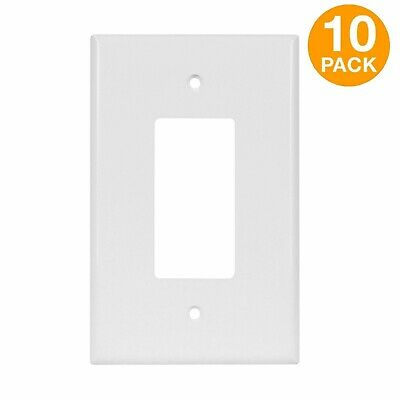 ENERLITES Decorator Switch Outlet Wall Plate Cover Oversize 1-Gang White 10 Pack
