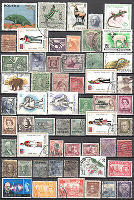 Lot 91 Page World Mix Of Stamps, All Diff. Some Mint