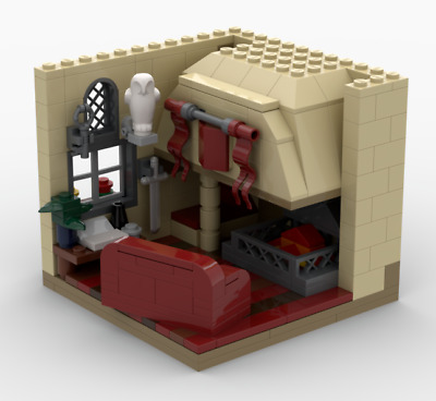 Gryffindor common room Lego MOC Harry Potter