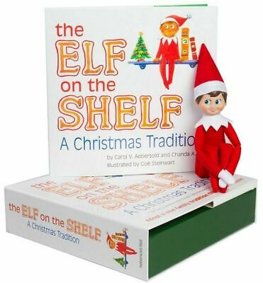 ELF ON The Shelf a Christmas Tradition     BOY DOLL ONLY     LIGHT SKIN   NEW