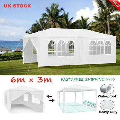 3x6m Gazebo Marquee Wedding Party Tent Outdoor Garden Patio Canopy Waterproof PE