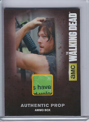 2016 Cryptozoic Walking Dead Season 4 Part 1 Prop #M16 Ammo Box Daryl 'have' SP