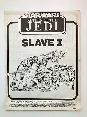 Slave I Instructions - Return Of The Jedi - Star Wars Vintage 1983
