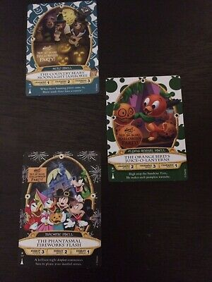 Sorcerers Of The Magic Kingdom Disney Parks MNSSHP Halloween Party Cards 2017-19