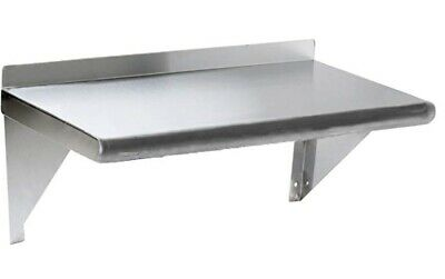 Commercial Stainless Steel Wall Mount Shelf 18 x 42 - NSF