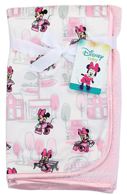 Disney Baby Minnie Mouse Printed Mink/Sherpa Blanket