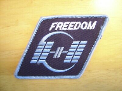 Vintage NASA Space Station Freedom Embroidered Iron On Patch