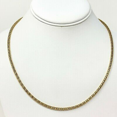 """14k Yellow Gold Fancy Hollow Cylinder Open Link Chain Necklace 19.5"""""""