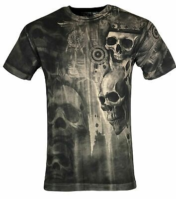 XTREME COUTURE by AFFLICTION Mens T-Shirt DEATHS GRIN Skulls Biker GYM S-4X $40