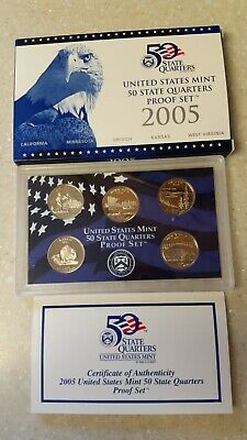 2005 US MINT 50 STATE QUARTERS PROOF SET UNSEARCHED PERFECT CONDITION 1ST OWNER