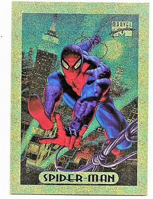 1994 Fleer Marvel Masterpieces #8 Spiderman Limited Edition Holofoil Gold